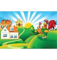 Cartoon rooster design vector image vector image