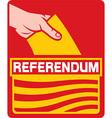 Catalonia Referendum Icon vector image vector image