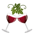cheers glasses of wine graphic vector image vector image