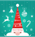 christmas market poster with santa and decorations vector image vector image