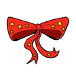 comic cartoon bow tie vector image vector image