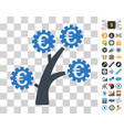 euro technology tree icon with bonus vector image vector image