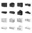 facade and housing symbol vector image vector image