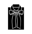Female blouse sketch icon for web mobile and info vector image