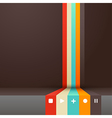 Four colored stripes with place for your own text vector image vector image