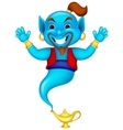 Friendly genie cartoon vector image