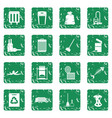 garbage thing icons set grunge vector image vector image