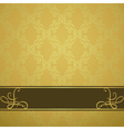 golden background with a brown board vector image vector image