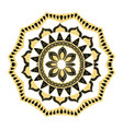 Golden mandala border antique decoration ornament