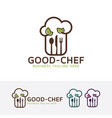 good chef logo design vector image vector image