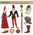 gothic medieval 14 century european old retro vector image vector image