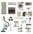 group household appliances vector image