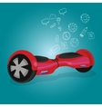 hoverboard hover board wheel device vector image