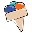 ice cream drawing on white background vector image vector image