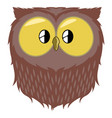 isolated cute owl avatar vector image