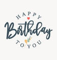 letter happy birthday vector image vector image