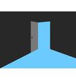 Light from the open door Blue lights vector image vector image