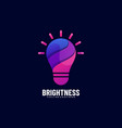 logo brightness gradient colorful style vector image
