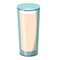 milk glass cartoon vector image