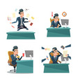 multitasking businessman at work office life vector image vector image