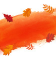 orange blot and autumn leaves vector image
