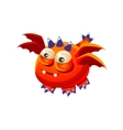 Orange Fantastic Friendly Pet Dragon With Four vector image vector image