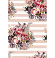 painting flower seamless pattern fabric vector image