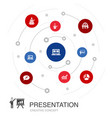 presentation colored circle concept with simple vector image