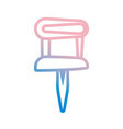 pushpin isolated symbol vector image vector image