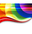 rainbow background vector image