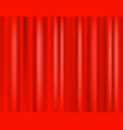 red curtain scene 3d realistic curtain curtain on vector image