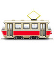 red small tram vector image vector image