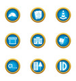 remedial maintenance icons set flat style vector image vector image
