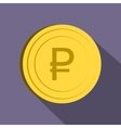 Ruble icon flat style vector image