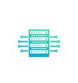 server data technology icon vector image