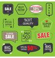 set commercial sale stickers elements badges vector image vector image