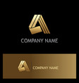 shape letter a gold company logo vector image
