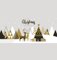 simple holiday new year card 5 vector image vector image
