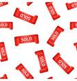 sold ribbon hang tag seamless pattern background vector image vector image