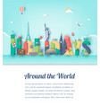 summer holidays travel and tourism concept vector image vector image