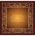 vintage border lace invitation card vector image