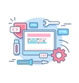 Web programming development concept vector image