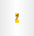 yellow letter z font logo icon vector image