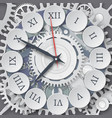mechanical watches roman dial of the watch vector image