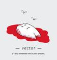 cartoon dead tooth vector image