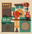 202abstract rock music vector image vector image