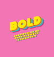 3d bold typeface color style vector image vector image