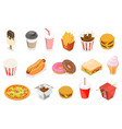 3d isometric flat icon set