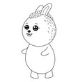 a children coloring bookpage a kawaii rabbit vector image