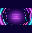 abstract neon tunnel background vector image